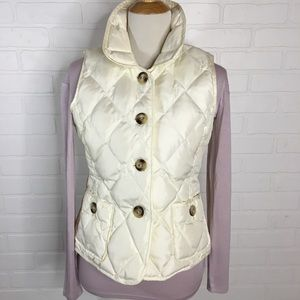 Talbots quilted puffer vest S